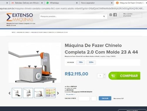 vende máquina de fazer chinelos