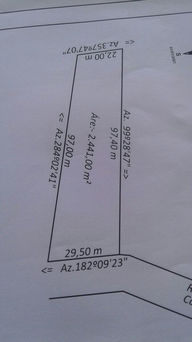 vende-se terreno de 2441 mts ótima localização terreno sitio