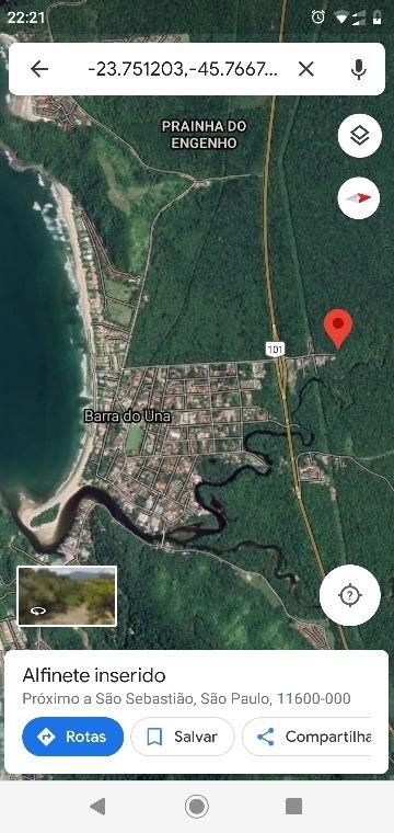 vende-se terreno (seeing land) 1.600mts no litoral de sp
