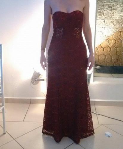vende/aluga vestido longo festa bordo vinhotomara que caia