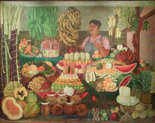 vendedora de frutas olga costa rompecabezas 500 pzs rommex