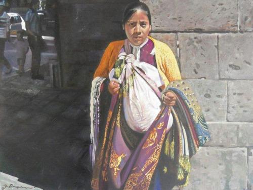 vendedora de telas original del maestro joel reyes