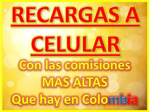 vender recargas a todo operador colombia