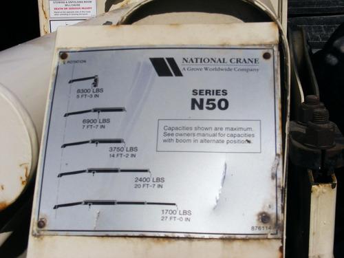vendida!!! grua articulada hiab- national n-50 1995 4 ton