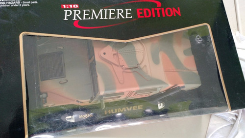 vendido hummer h1 humvee 1:18 militar maisto