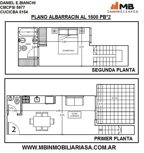 vendido! parque chacabuco 2 amb.c/patio albarracín 1600 pb°2