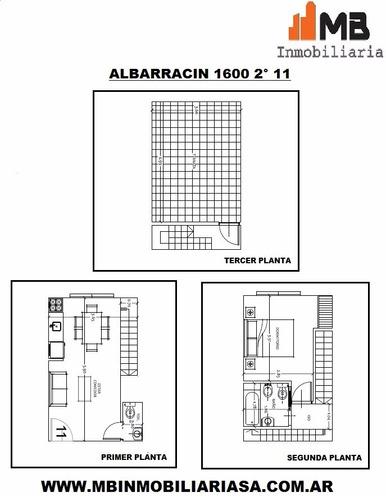 vendido!!parque chacabuco 2 amb. en albarracin al 1600 2°11