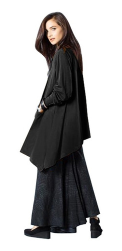 vendimia mujeres maxi sólido vestido largo mangas bolsillo