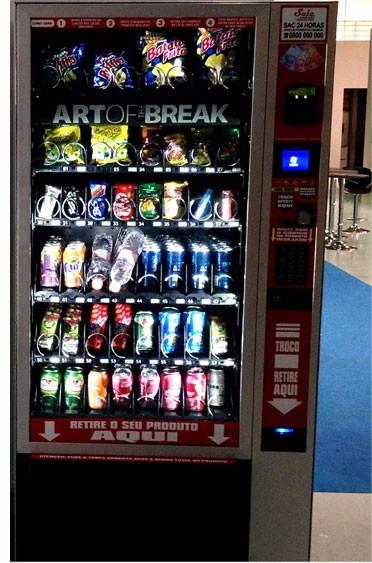 1e81fc49372 Vending Machine Refrigerante Salgadinho C  Video - R  45.450