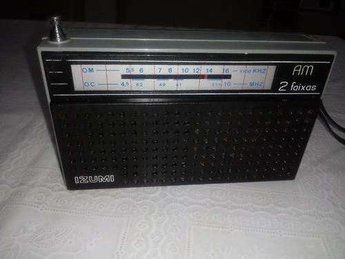 vendo 1 radio da marcaizumi muito bom sem defeito fucionando