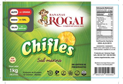 vendo 1.kl chifles de sal y dulce bananas rogai