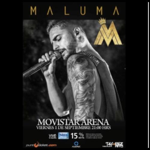 vendo 2 entradas a maluma 1 de septiembre sector golden