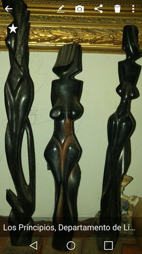 vendo 3 figuras de madera ebano.muy bonitas importadas.gps