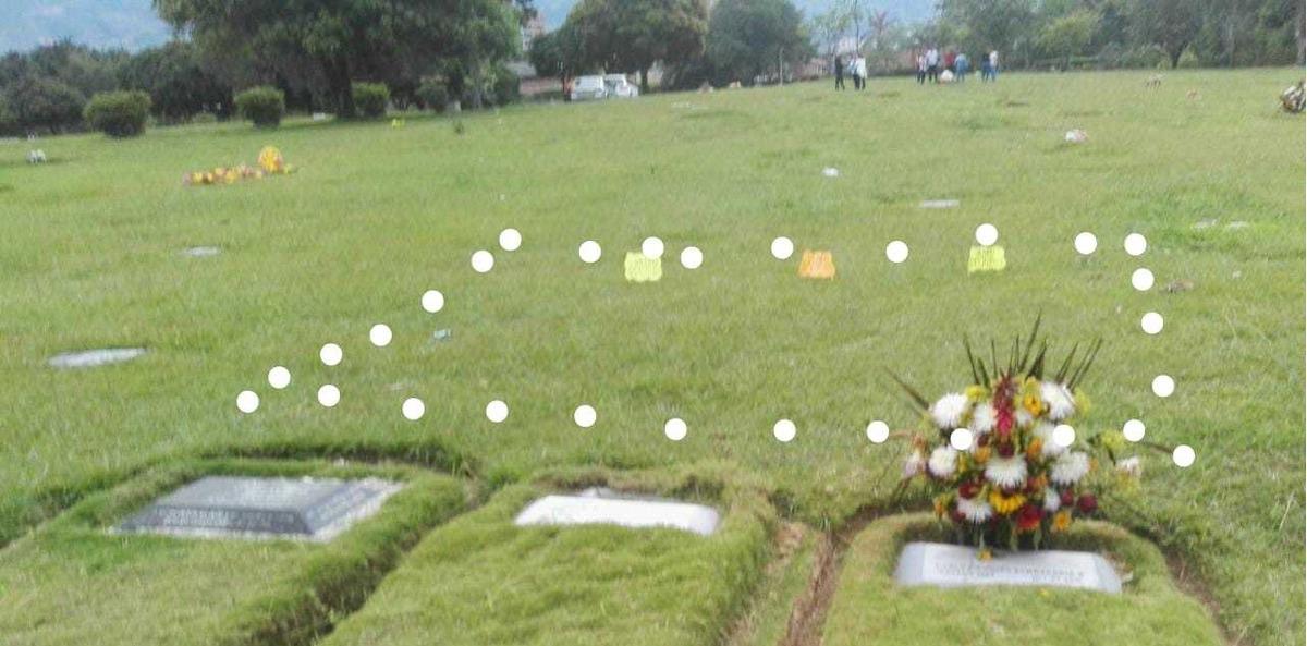 vendo 3 lotes en cementerio jardines montesacro, itagüí