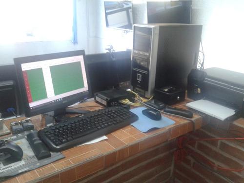 vendo 4 equipos de computo para negocio ciber