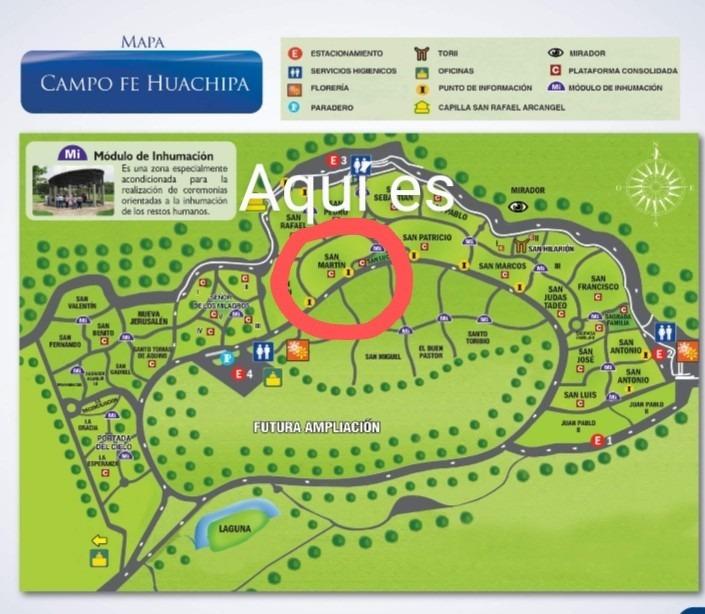 vendo 4 espacios funerarios campo fé huachipa