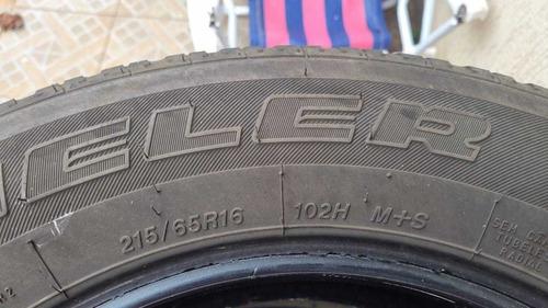 vendo 4 pneus aro16 215/65 meia vida marca bridgestone