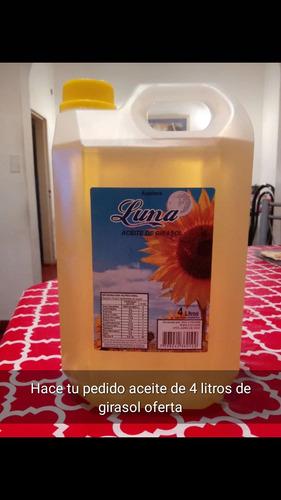 vendo aceite de girasol de 4 litro $280 c/u