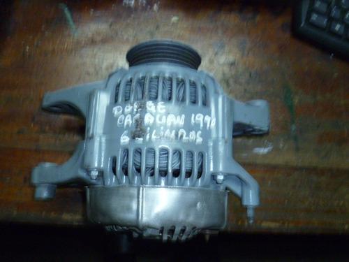 vendo alternador de dodge caravan, año 1990, 6 cilindros
