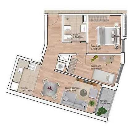 vendo apartamento 2 dormitorios con terraza en la blanqueada
