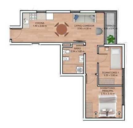 vendo apartamento 2 dormitorios con terraza  la blanqueada