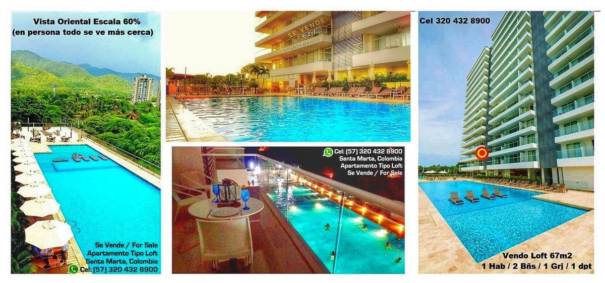 vendo apartamento loft / irotama / santa marta / playa /