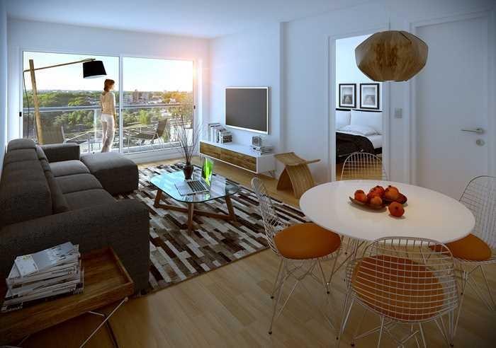vendo apartamento monoambiente con terraza en la blanqueada