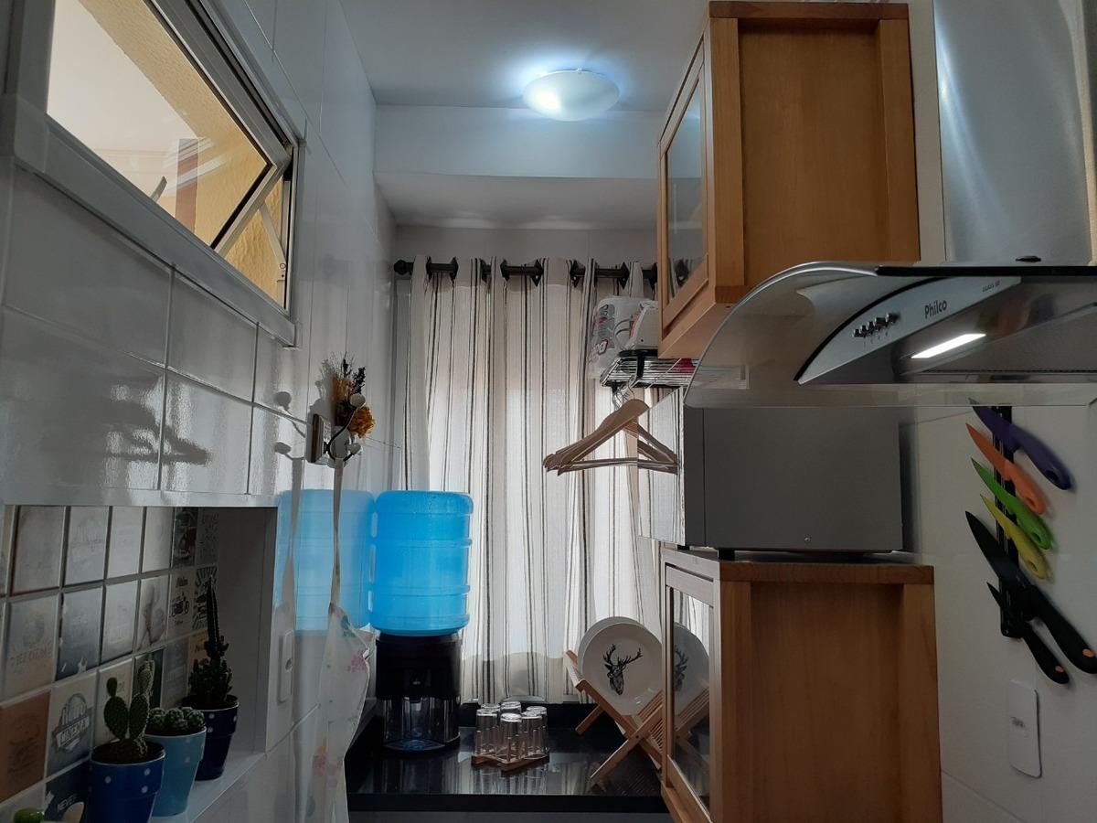 vendo apartamento no campestre com 2 vagas e sacada gourmet