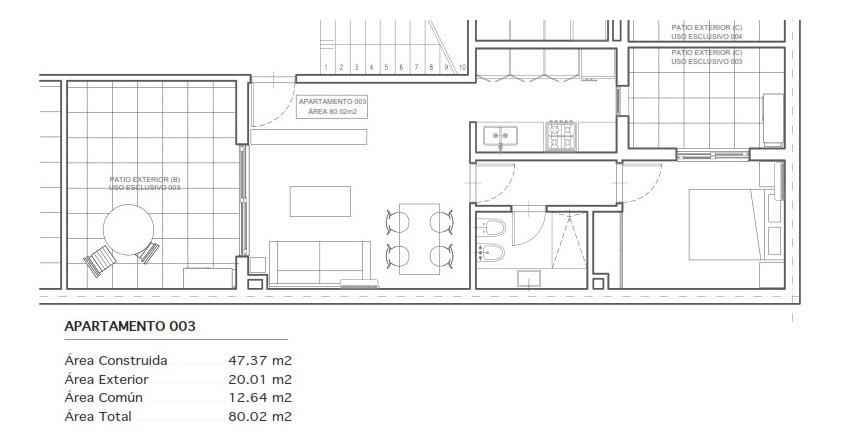 vendo apartamento punta carretas 1 dormitorio