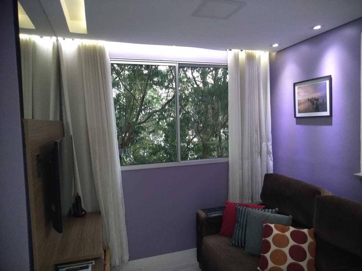 vendo apto 2 dormitórios mobilado - pq são vicente/mauá