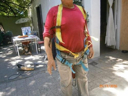 vendo arnes de seguridad + pastecas 50 mtrs de soga