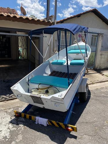 vendo barco de aluminio metalglass motor 25 hp yamaha