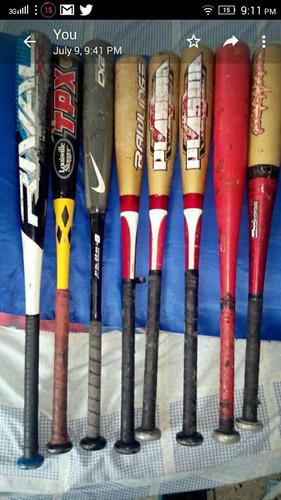 vendo bates usados de beisbol infantil