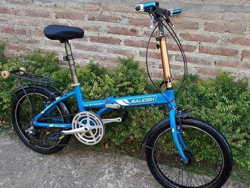 vendo bicicleta raleigh plegable