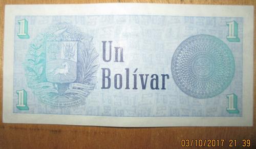 vendo billete de 1 bs., a8, año 1.989, condición ( ef )