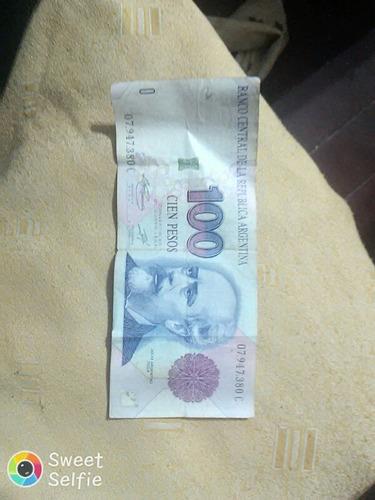 vendo billete de $100 pesos