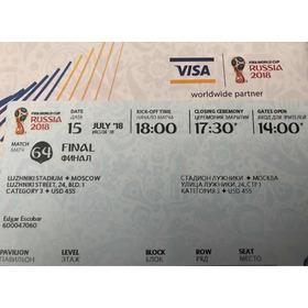 Vendo Boleta De La Final Mundial Rusia 2018