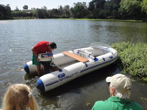 vendo bote de goma sea eagle gt-15 con motor aqua bug 550