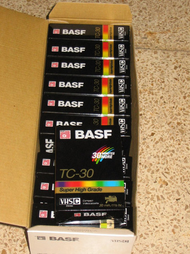 vendo caja de cassette basf vhs c para camaras de video