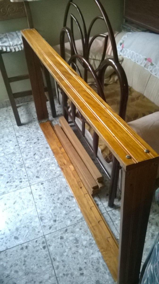 Vendo cama de piso individual de madera bs en for Vendo bar de madera