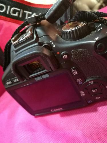 vendo camara canon t3i + lente 18-55mm impecable