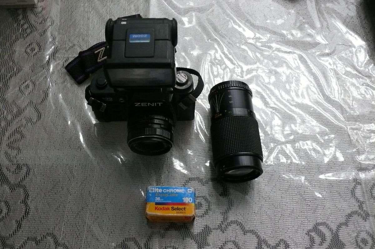 vendo camara zenit con 2 lentes flash en buen estado