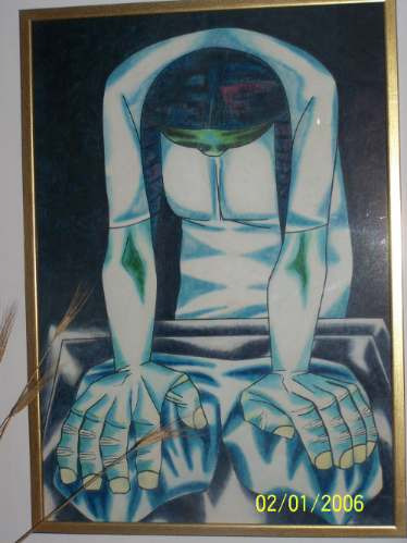vendo cambio - pintura - molice - tiza - 70x100