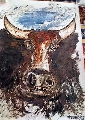 vendo cambio - pintura - niaupari - acuarela - 70x50