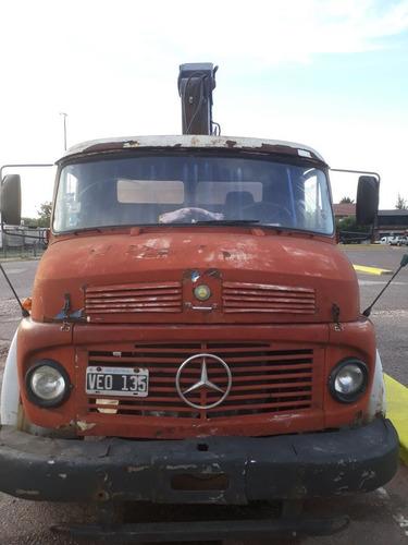 vendo camión con hidrogrua mercedes benz 1114