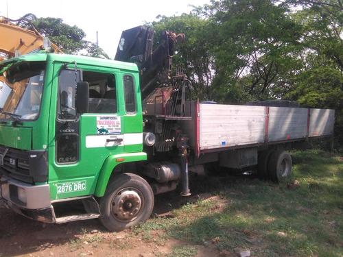 vendo camión grúa fl614 volvo año 90