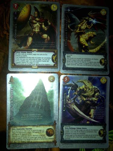 vendo cartas mitos y leyendas ur,sp,reales.