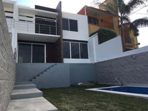 vendo casa nueva y moderna en burgos, temixco, morelos.