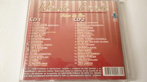 vendo cd doble romulo caicedo-30 exitos in memoriam