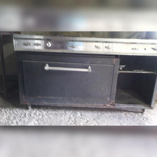 vendo cocina industrial, 6 hornillas,horno,plancha,gratinado